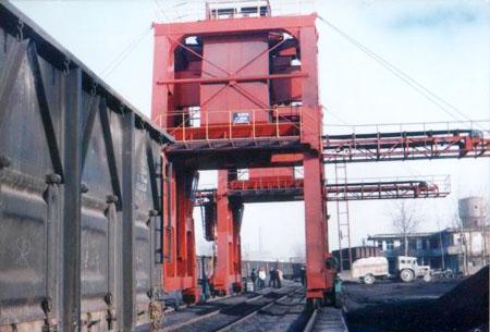 门式双跨链斗卸车机
